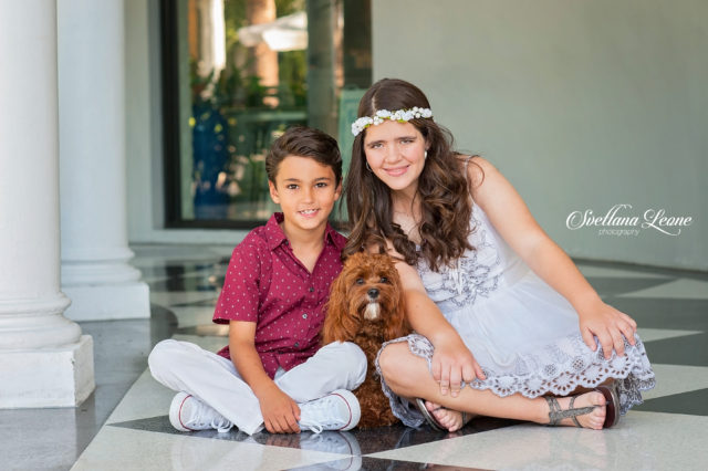 West Palm Family Photographer: Jeannette, Michael with family