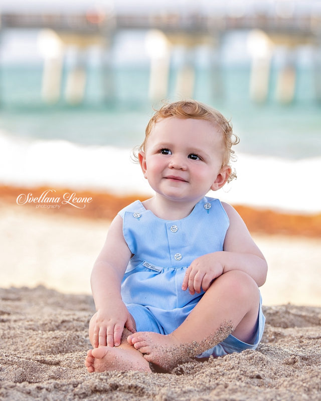 Jupiter Family Photographer:Baby Benjamin with loving parents